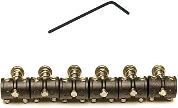 Graph Tech String Saver Saddle Barrel for Mustang, Jaguar, Jazzmaster, and Jagstang Electric Guitars (Set of 6)