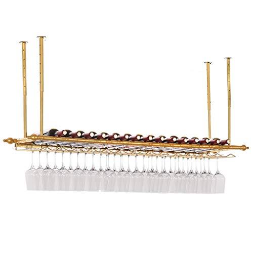 Wine Rack, drijvende wandplank, wijnglas-houder, plank, multifunctioneel, vintage-stijl
