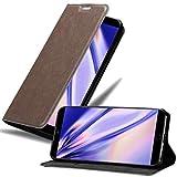 Cadorabo Hülle für MEIZU 15 in Kaffee BRAUN - Handyhülle mit Magnetverschluss, Standfunktion & Kartenfach - Hülle Cover Schutzhülle Etui Tasche Book Klapp Style