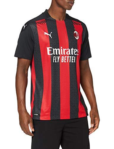 PUMA ACM Stagione 20/21 Home Shirt Authentic Maglietta, Uomo, Tango Red -Puma Black, L
