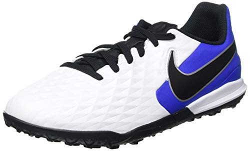 Nike Jr. Legend 8 Academy TF Football Shoe, White/Black-Hyper Royal-Metallic Silver, 36 EU