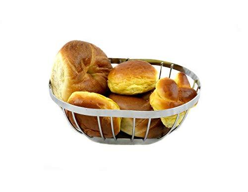 Oval Chrome Bread and Fruit Basket Basket - Silver