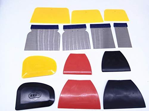 Turbo Pro - Juego de herramientas de reparación para pintura de coche, espátula de goma, espátula de plástico, espátula de llenado de plástico suave, 13 unidades por lote