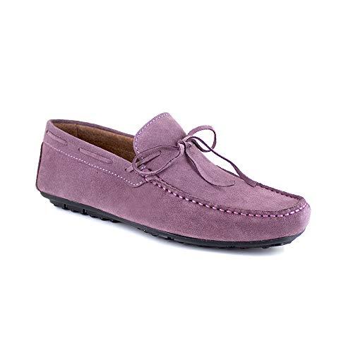 Mocassin J.Bradford Cuero Malva JB-James - Color - Violeta, Talla Zapatos - 45