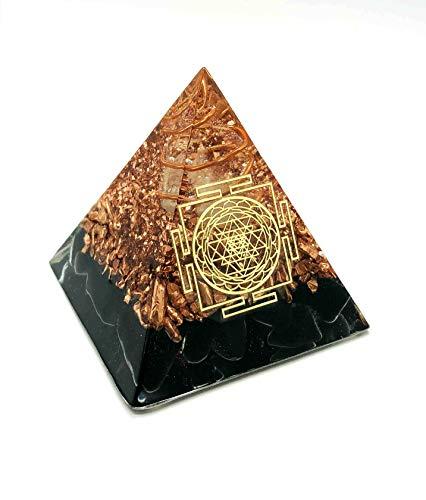 RELIGHT オルゴナイト ピラミッド ヤントラ 風水 置物 オブジェ (モリオン)