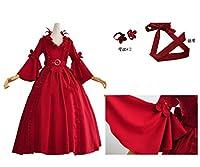 実物撮影◆◆ 第五人格 監修者の赤い夫人 マリー ☆コスプレ衣装 全セット
