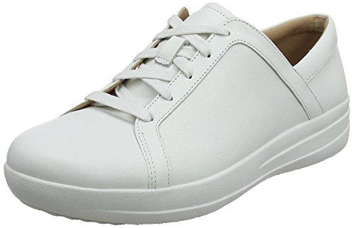 Fitflop F-Sporty II Lace Up Sneakers, Scarpe da Ginnastica in Pelle Donna, Bianco (Urban White 194), 39 EU