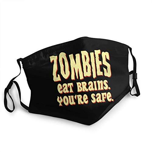 ZSMJ Design Zombies Eat Brains You'Re Safe Face Bandana Reutilizable Cómodo Lavable Niños Invierno Caliente Bufanda