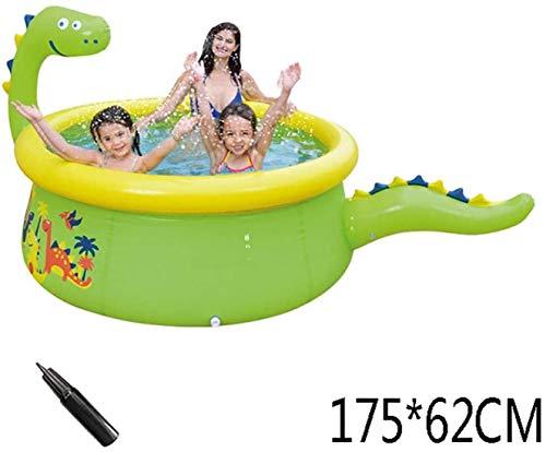 AJH Pool mit Pumpe Aufblasbarer Außenpool Tiere für Kinder Hinterhof Garten Home Familienpool für Erwachsene und Kinder