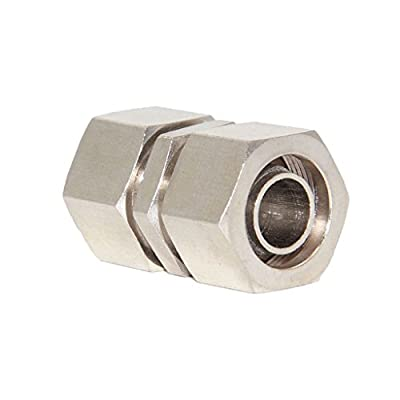 Dovewill Solid Brass Double End Pipe Fitting Thread Coupler Connector for Air Tool Piping PU Tubing Air Line Hose