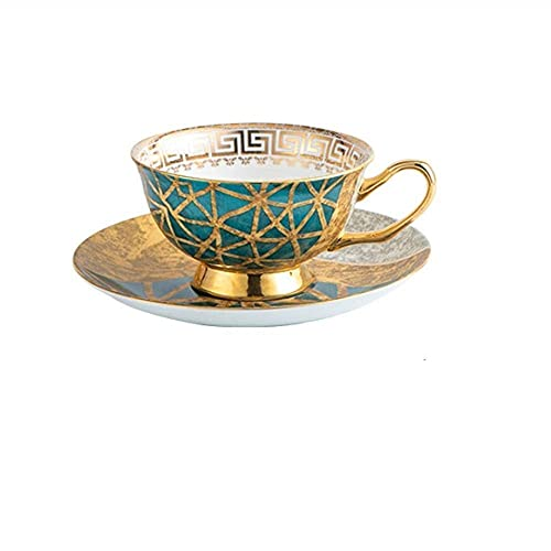 XiYou Tazas y platillos de té Caja de Regalo Europea Taza y platillo de Porcelana creativos Cerámica Juegos de té Simples Tazas de café Juego de té Real, Regalo