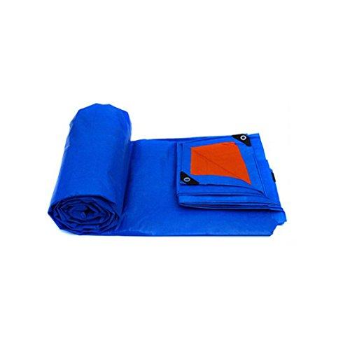Bâche en plastique Bâche de pluie Poncho Camion Bâche Bâche Toile Toile Parasol En Plein Air Protection Solaire Isolation (155g / M2) (Couleur : Blue orange, taille : 12m*18m)