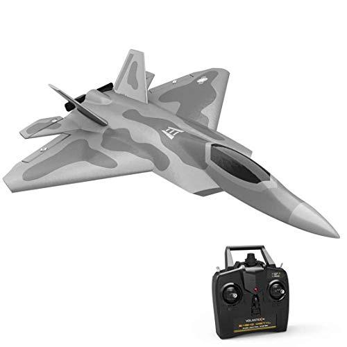 Lommer RC Flugzeug RTF 4 Kanal F22 Raptor, VOLANTEXRC Segelflugzeug Ferngesteuert 260mm Spannweite 2.4G RC Starrflügler mit Xpilot Gyro System für Anfänger Kinder Jungen Erwachsene