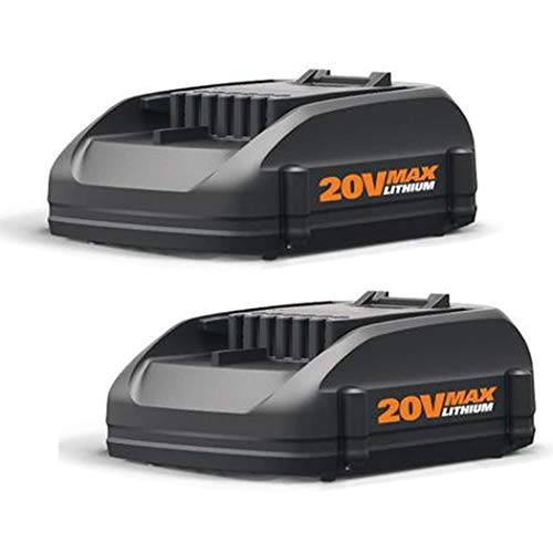 2Pack 4.0Ah 20 Volt Lithium WA3520 Replacement Battery for WORX WG151s, WG155s, WG251s, WG540s, WG890, WG891 Worx 20v Lithium Battery