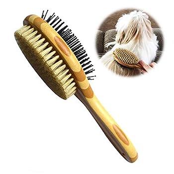 Brosse pour Chien/Chat Double Face, Peigne de toilettage de chien pour massage et perte de fourrure, Poils Doux, Idéal pour les Animaux à Poil Court, Moyen et Long