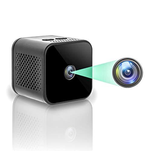 Mini Camaras Espia Oculta Videocámara,1080P HD Gran Angular 150° WiFi Cámara Vigilancia Portátil Secreta Compacta con Detector de Movimiento IR Visión Nocturna, Camaras de Seguridad Pequeña (1)