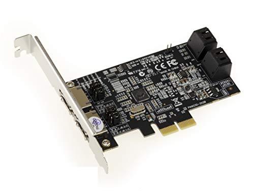 Kalea Informatique Controller-Karte PCIe 4 + 2 Ports SATA/eSATA 6G, Chipsatz Marvell 88SE9230 – RAID 0 / 1 / 10 / Hyperduo