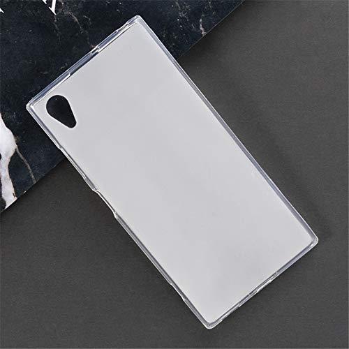 Capa para Sony Xperia XA1 Plus, capa traseira de TPU macia resistente a arranhões à prova de choque de borracha de gel de silicone anti-impressões digitais Capa protetora de corpo inteiro para Sony Xperia XA1 Plus (branca)