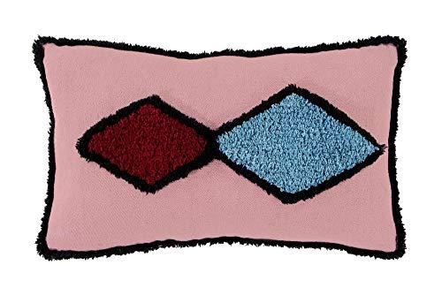 Lorena Canals Cojín Assa Ash Rose 100% Algodón- Relleno: 100% Poliéster -Rosa- 35x55x30 cm