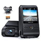 【2020進化版】 APEMAN ドライブレコーダー 前後カメラ 32Gカード付き 200万画素 IPSパネル 1080PフルHD 2カメラ 170度広角 GPS機能搭載 小型2インチ Gセンサー搭載/WDR/夜間対応/常時録画/駐車監視/動き検知/ドラレコ 車載カメラ 防水車検ETC対応 日本語メニュー 日本語説明書 2年保証