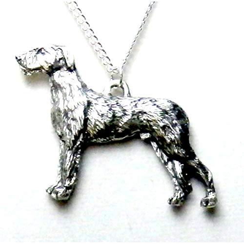 Irish Wolfhound Dog Necklace 1508