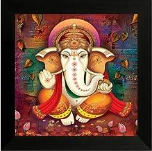 NOBILITY Ganesha Framed Painting Wall Art Statue
