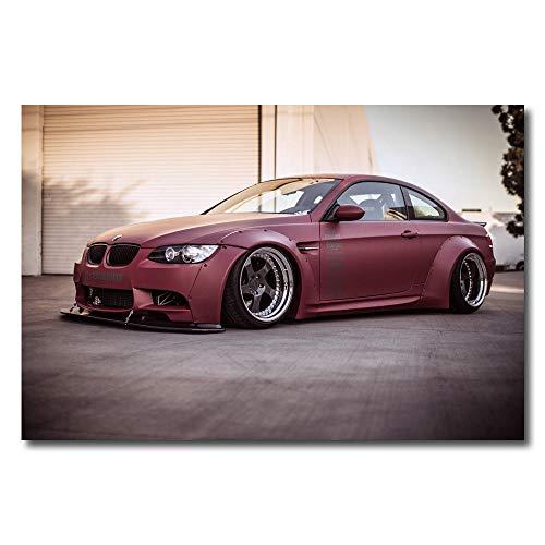 kingxqq BMW E92 M3 Supersportwagen Gedruckte Wandkunst Leinwand Poster Malerei Wohnzimmer Wohnkultur-60X80cm 24x32 Zoll ohne Rahmen