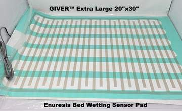 """Bed Wetting Urine Sensor Pad Mat with Alarm,Recommended,Nocturnal Enuresis Caregiver Hospital Quality for Home Use Cure Treatment,Boys,Girls,Adults,Music or Alarm,Potty Training,Easy (20x30"""" by Giver)"""