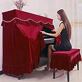 Piano Keyboard Staubschutz Upright Piano Abdeckung Staub-Beweis-Tuch-Hirtenart-Klavier-Tastatur-Schutz-Abdeckung Mit Hockern Hüllen Vorhang Designermöbel Dekorative Cloth