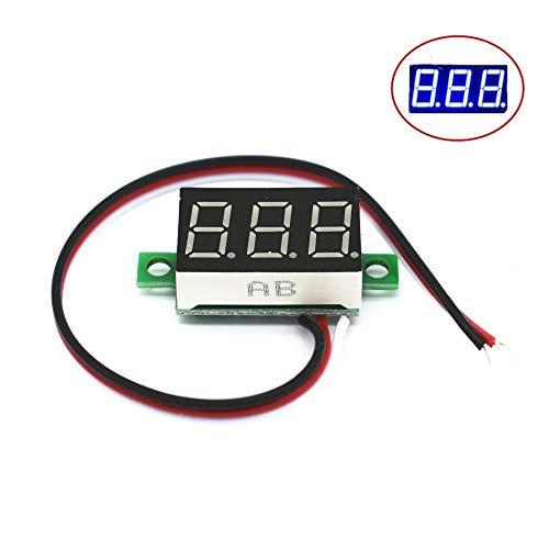 DROK/® 0.56  digitale voltmetro DC 3.5-30V tensione metro 12V 24V di tensione Tester verde Display LED 2 fili per veicolo solare batteria per auto Boat tensione di misura