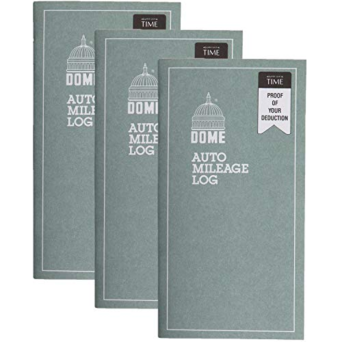 Dome Auto Mileage Log, Undated, 32 Forms [Set of 3]
