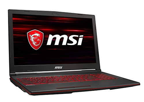 MSI GL63 9SFK-1001DE (39,6 cm/15,6 Zoll/144Hz) Gaming-Laptop (Intel Core i7-9750H, 16 GB RAM, 512 GB PCIe SSD + 1TB HDD, Nvidia GeForce RTX2070 16 GB, Windows 10 Home)