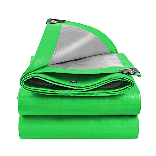 TONGQU Lona Impermeable Resistente, 160GSM Lona Impermeable, Cubierta Lona Protectora para Plantas para Cubierta Muebles Suelo de Camping al Aire Libre,Verde,4x5m/13.12x16.4ft
