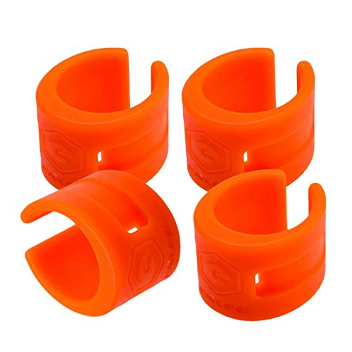 Perfeclan 4 Sets Bike Chainstay Protector Rings Bicycle Frame Protector Guard Pad Cover for Mountain Road Bike Fork Protective Outdoor Sports Safety Cycling Orange