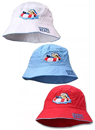 Kinder Jungen Mädchen 3er Fischerhut Set Baby Sommer Sonnenhut Sonnenschutz 50cm