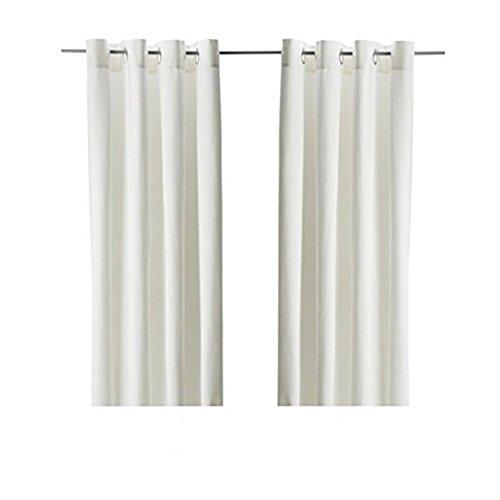 ikea home curtain panels Merete IKEA Curtains 57W x 98L (1 Pair, Bleached White)