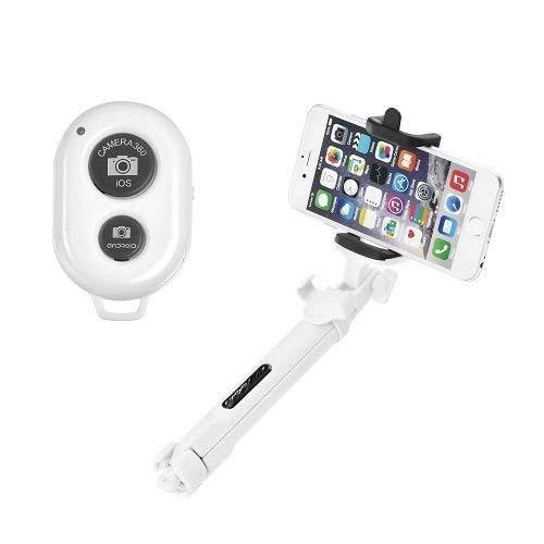 OZZZO Bastoni Selfie treppiede Bluetooth Bianco per ASUS ZenFone 4 PRO ZS551KL