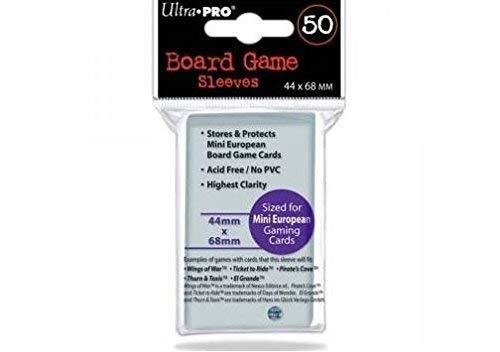 Ultra Pro Board Game Sleeves - Mini European [44mm x 68mm]