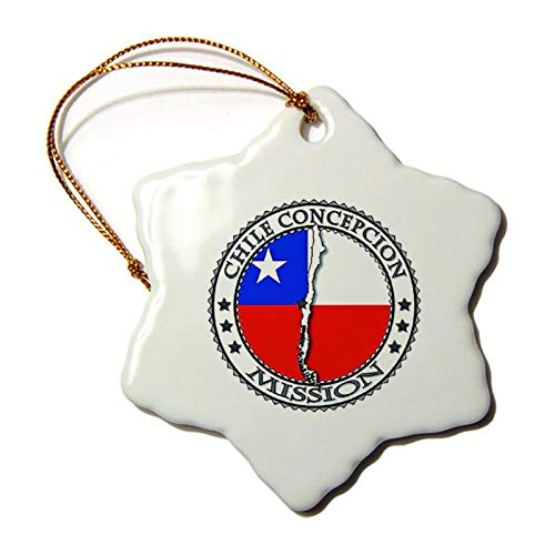 Jeartyca Christmas Ornaments Chile Concepcion LDS Mission Flag Cutout Map 1 ORN Christmas Ornament Wedding Star Ceramic Ornament Crafts