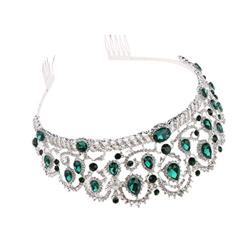 Niumanery Tiara Crowns Vintage Crystal Pageant Princess Crowns with Comb Bridal Tiaras