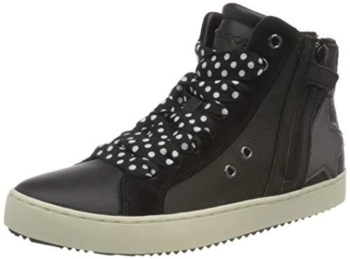 Geox J Kalispera Girl A Sneaker, (Black), 35 EU