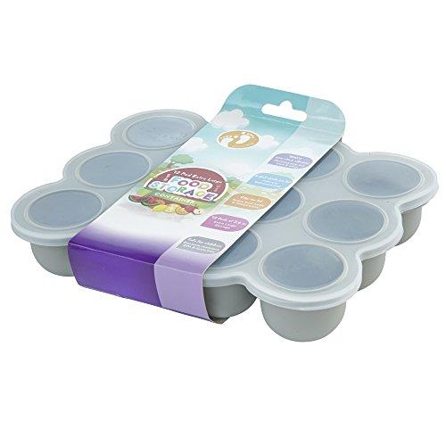 Premium Silikon Babynahrung Aufbewahrung Behälter, Groß 12 x 75ml Portionsgröße mit Deckel| Ideal zum Einfrieren von Babybrei - 100% BPA-Frei & FDA-Zugelassen| Gefrierschrank & Spülmaschinenfest.
