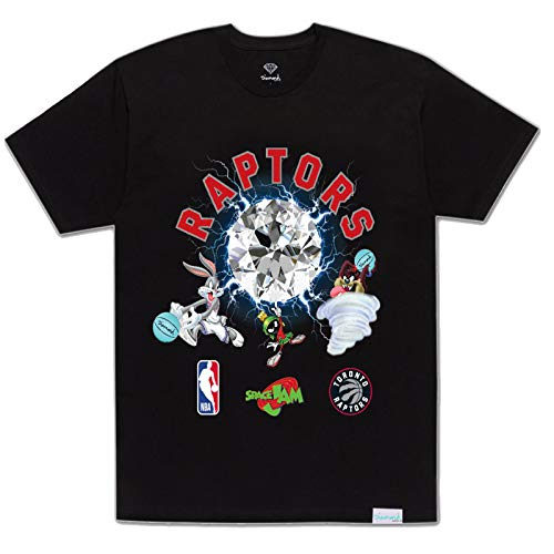Diamond Supply Co. x NBA Space Jam 2 Men's Toronto Raptors Short Sleeve T Shirt Black S