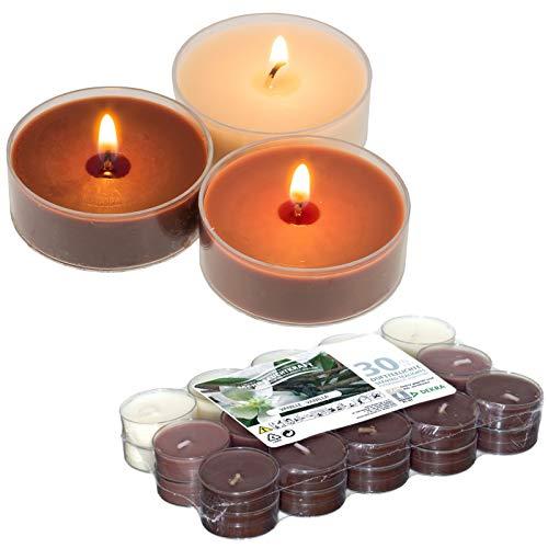 Smart Planet® Kerzen Ambiente Duftkerzen Vanille - 30er Packung Teelichter - Teelicht 30 Stück Duftteelichte mit angenehmem Vanille Duft