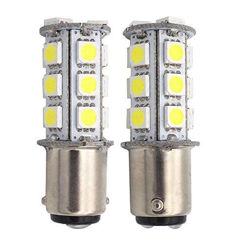 GRV Ba15d 1142 1076 High Bright Car LED Bulb 18-5050SMD DC12V Cool White Pack of 2