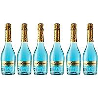 Don Luciano Blue Moscato Vino Espumoso Natural, Volumen de Alcohol 5.5% - Pack 6 Botellas x 750 ml - Total: 4500 ml