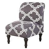 Mingfuxin Fundas para sillas sin brazos, fundas elásticas para sillas de sofá, protectores de muebles lavables extraíbles para el hogar y el hotel (impreso # 3023)