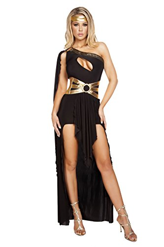 Roma Costume Women's 3 Piece Gorgeous Goddess, Black/Gold, Small/Medium - http://coolthings.us