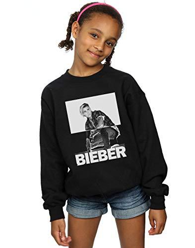 Absolute Cult Justin Bieber Mädchen Split Contrast Sweatshirt Schwarz 9-11 Years