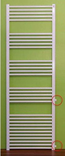 Badheizkörper gerade Austauschheizkörper Heizkörper Handtuchwärmer Radiator Nabenabstand 500 mm 600 mm 900 mm (1800 mm x 400 mm Nabenabstand: 900 mm)